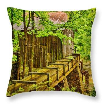 Pine Run Mill Throw Pillow