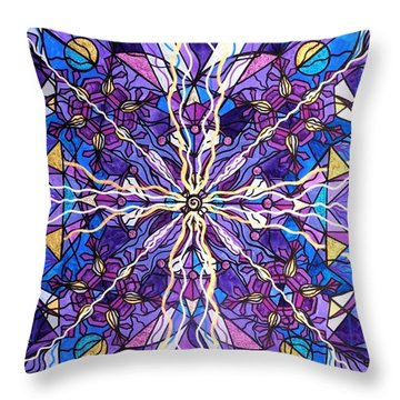 Pineal Opening Throw Pillow by Teal Eye  Print Store