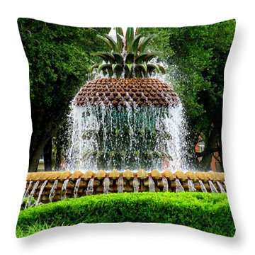 Pineapple Fountain 2 Throw Pillow
