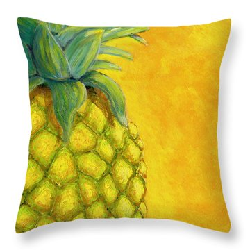 Pineapple Throw Pillow by Karyn Robinson