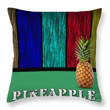 Pineapple Throw Pillow by Marvin Blaine