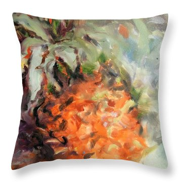 Pineapple Orange Throw Pillow
