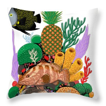 Pineapple Reef Throw Pillow