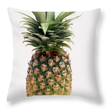 Pineapple Throw Pillow by Ron Nickel