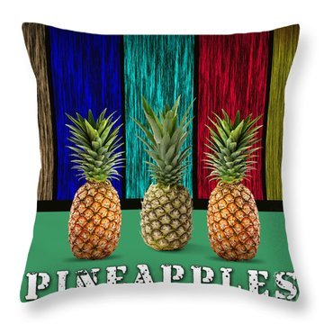 Pineapples Throw Pillow by Marvin Blaine