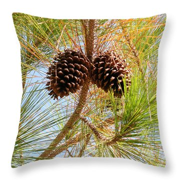 Pinecone's Throw Pillow