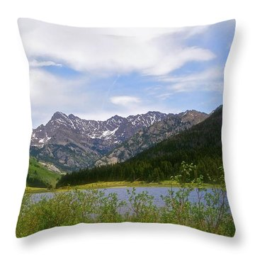 Piney Lake In Upper Vail Throw Pillow