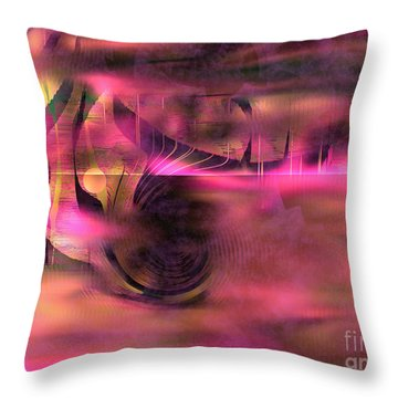 Pink Abstract Nature Throw Pillow by Yul Olaivar