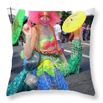Throw Pillow featuring the photograph Pink Afro by Ed Weidman