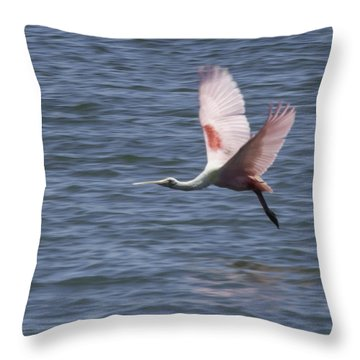 Pink And Blue IIi Throw Pillow
