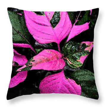 Pink And Green Throw Pillow by Aimee L Maher Photography and Art Visit ALMGallerydotcom