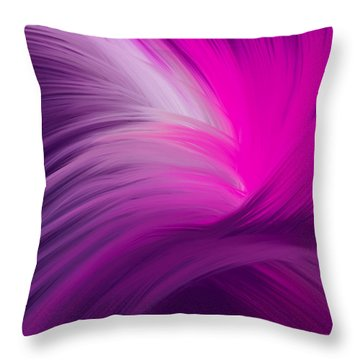 Pink And Purple Swirls Throw Pillow