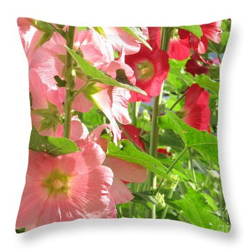 Pink And Red Group Throw Pillow by Tina M Wenger