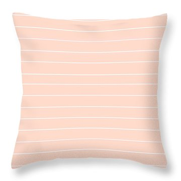 Pink And White Pin Stripes Throw Pillow