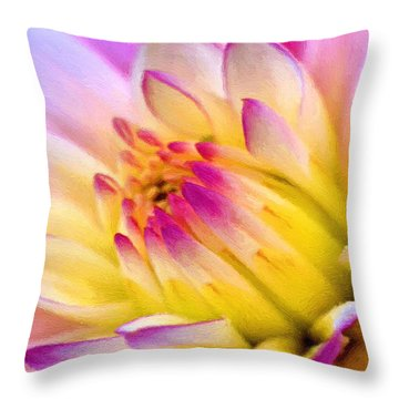 Pink And White Water Lily Throw Pillow