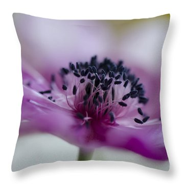 Pink Anemone  Throw Pillow by Nicole Markmann Nelson
