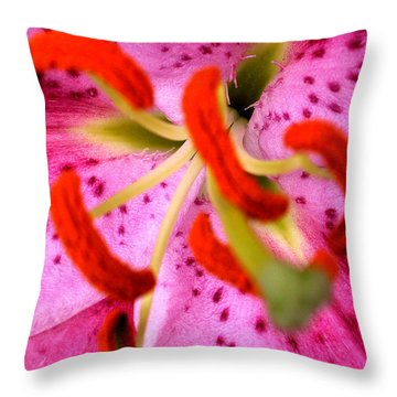 Pink Aroma  Throw Pillow by Sarah OToole