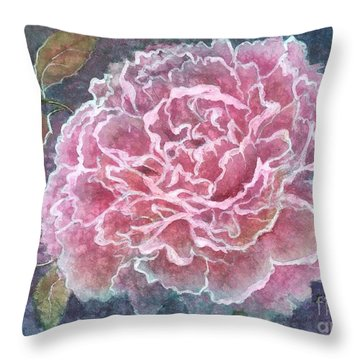 Pink Beauty Throw Pillow by Barbara Jewell