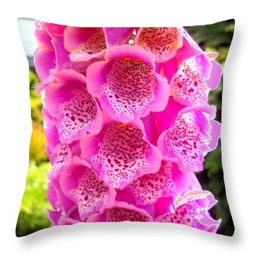 Pink-beauty Throw Pillow by Basant Soni