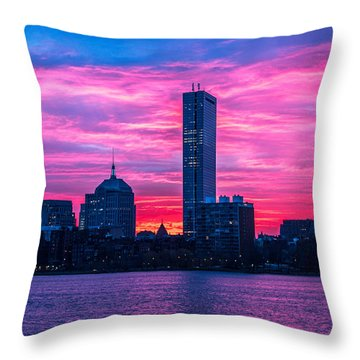 Pink Boston Throw Pillow
