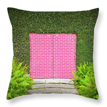 Brick Wall Throw Pillows