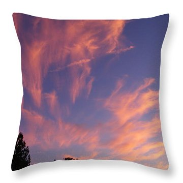 Pink Burst Throw Pillow by Tom Mansfield