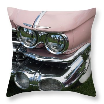 Pink Caddy Throw Pillow