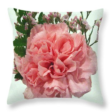 Throw Pillow featuring the photograph Pink Carnation by Merton Allen