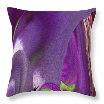 Pink Cavern Throw Pillow by Betty Depee