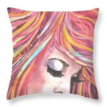 Pink Chiffon Throw Pillow