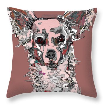 Pink Chihuahua Throw Pillow