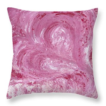 Pink Color Of Energy Throw Pillow