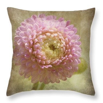 Throw Pillow featuring the photograph Pink Dahlia  by Irina Hays