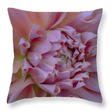 Pink Dahlia Throw Pillow by Jacqui Boonstra