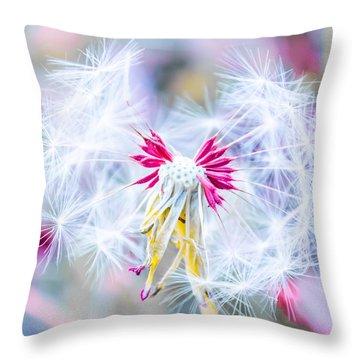 Magic In Pink Throw Pillow