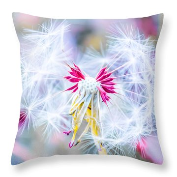 Magic In Pink Throw Pillow
