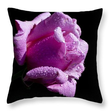 Throw Pillow featuring the photograph Pink Delight by Doug Norkum