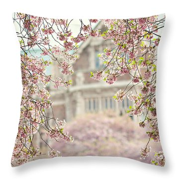 Pink Dream Throw Pillow by Sylvia Cook