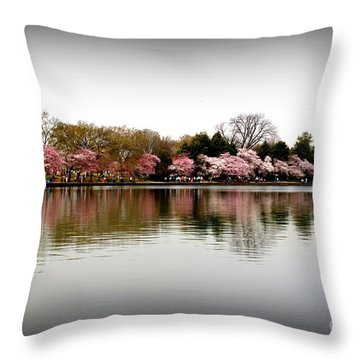 Pink Echoes Throw Pillow