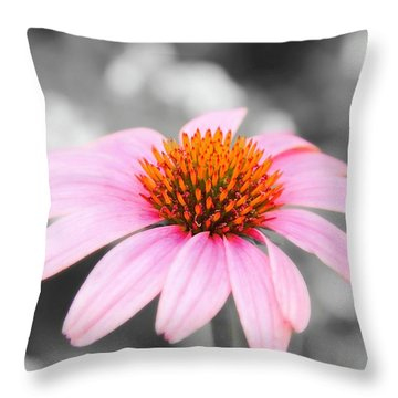 Throw Pillow featuring the photograph Pink by Elizabeth Budd
