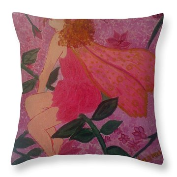 Pink Fairy Throw Pillow
