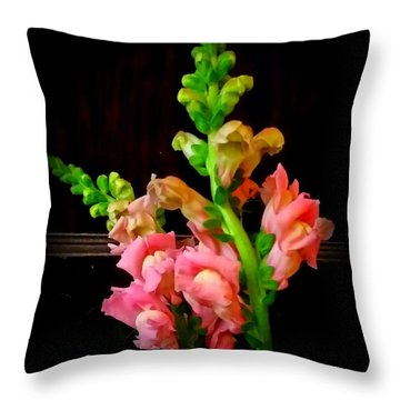 Pink Snapdragon 2 Throw Pillow