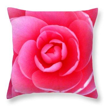 Pink Flower From Garden Throw Pillow by Beril Sirmacek