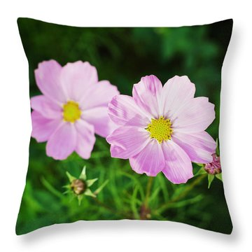 Pink Flower Throw Pillow by Hans Engbers
