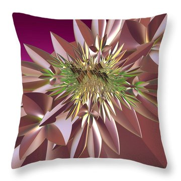 Throw Pillow featuring the digital art Pink Flowers by Melissa Messick