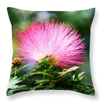 Pink Fluff Throw Pillow