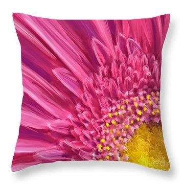 Pink Gerbera Throw Pillow