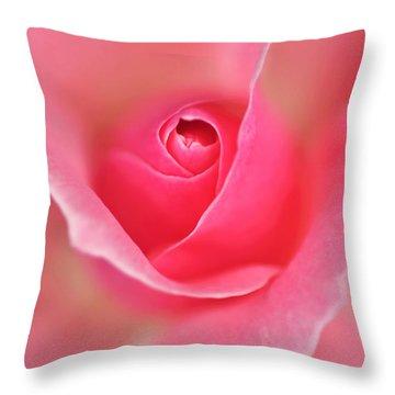 Pink Glow Throw Pillow by Kaye Menner