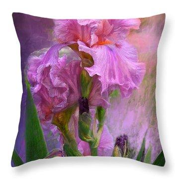 Pink Goddess Throw Pillow by Carol Cavalaris