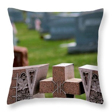 Pink Granite Tombstone Throw Pillow by Amy Cicconi